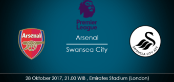 Prediksi Arsenal vs Swansea City 28 Oktober 2017