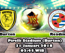 Prediksi Bola Burton Albion vs Reading 31 Januari 2018